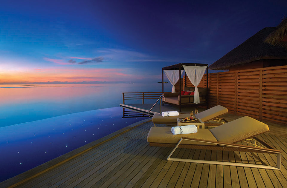 Baros resort Maldive water pool villa