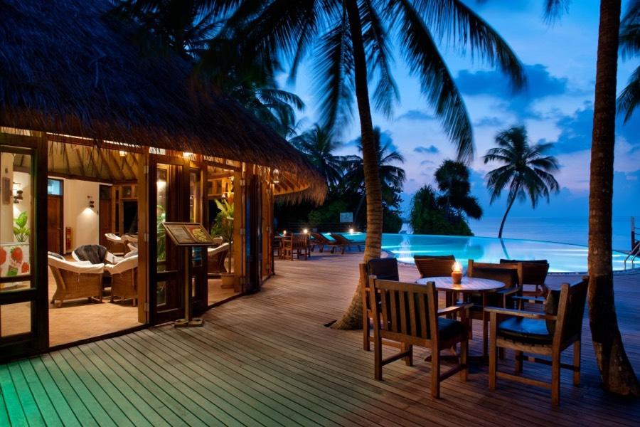 Resort Maldive Sun Aqua Vilu Reef ristorante Island pizza