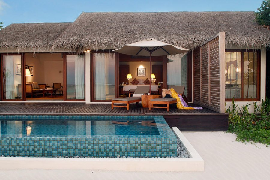 Resort Maldive The Residence beach villa with pool