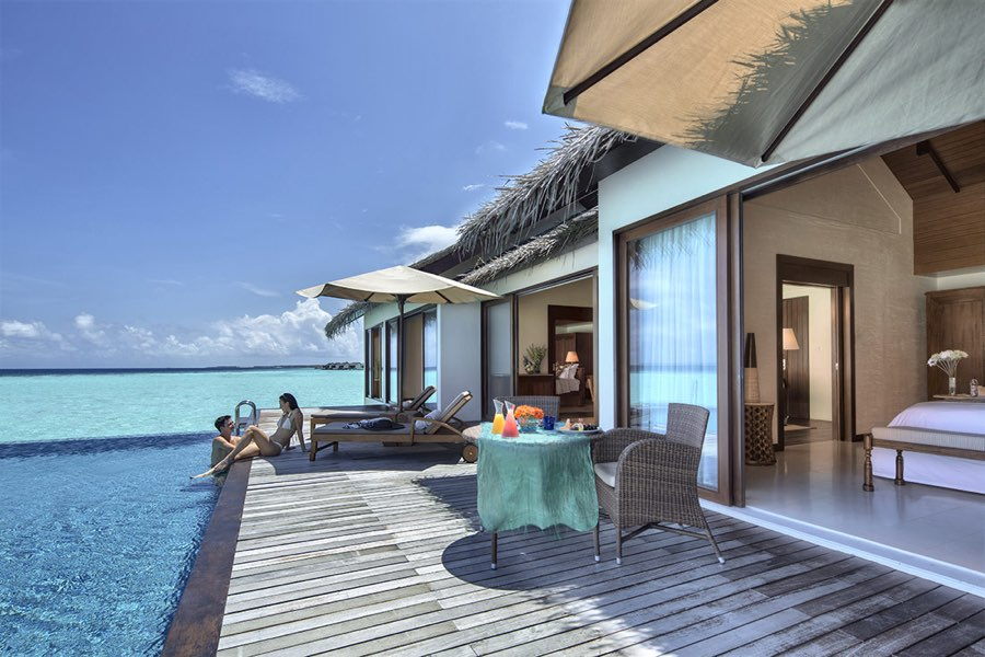 Resort Maldive The Residence water pool villa