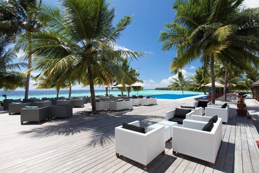 Resort Maldive Vilamendhoo Island Resort & Spa ristorante hot rock