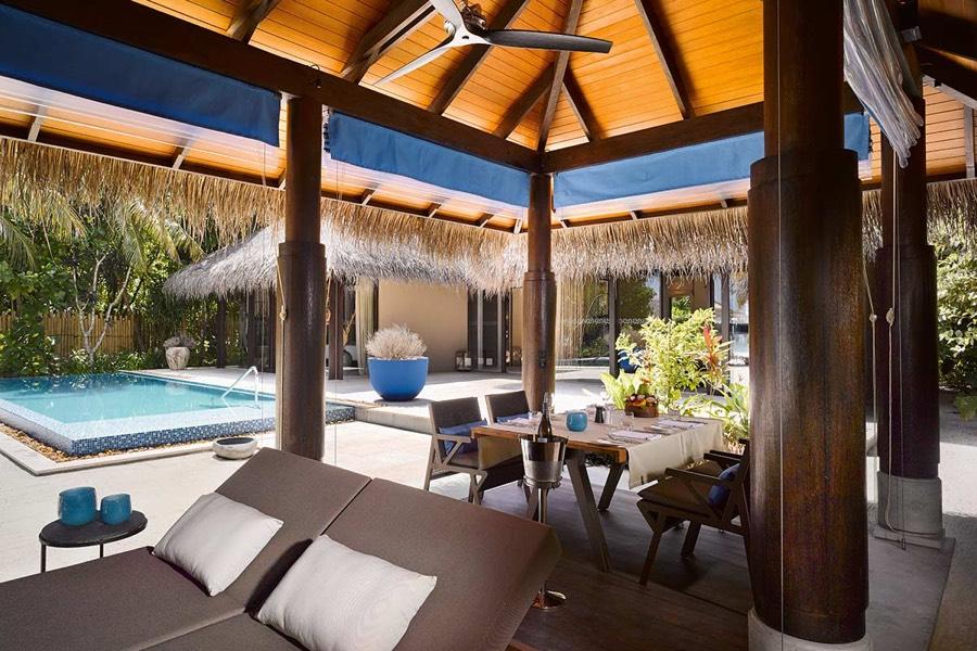 Resort Maldive Velaa Private Island deluxe beach pool villa