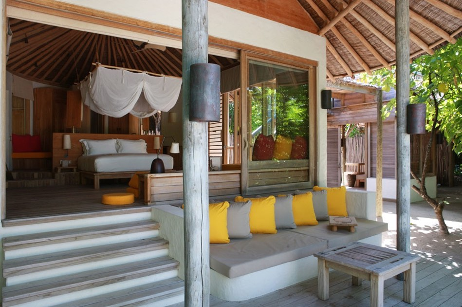 Resort Maldive Six Senses Laaamu lagoon beach villa with pool