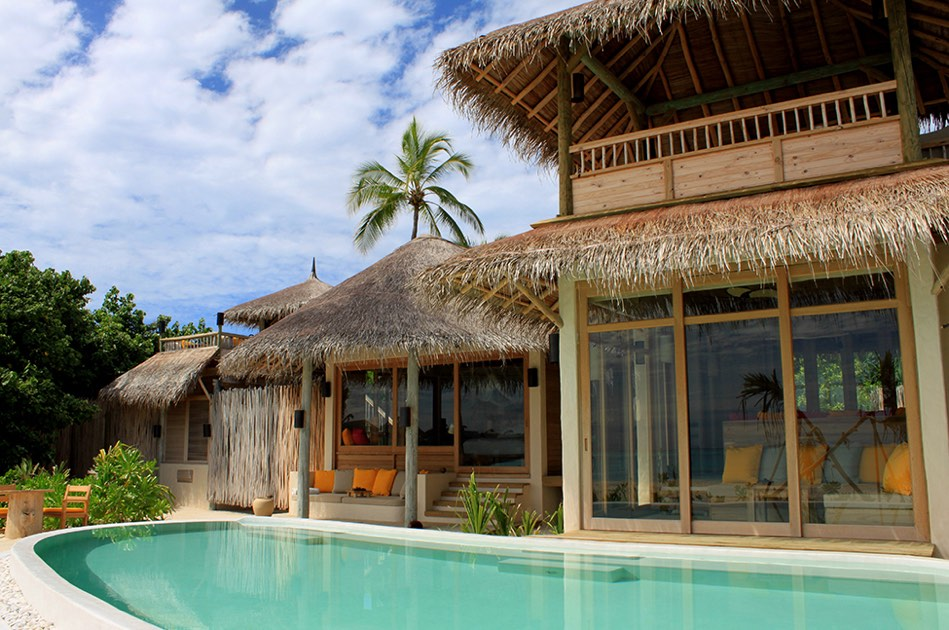 Resort Maldive Six Senses Laaamu two bedroom lagoon beach villa with pool