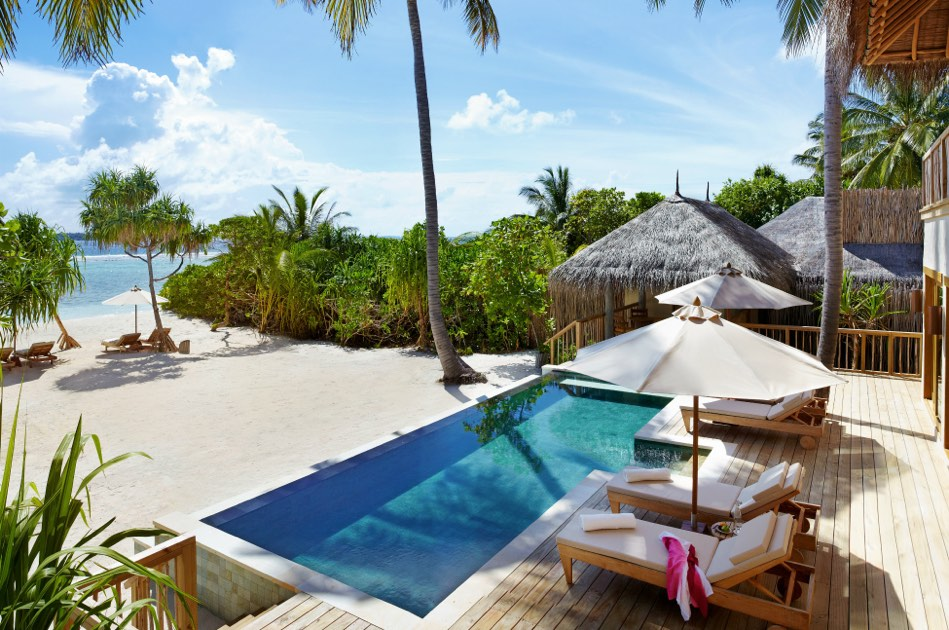 Resort Maldive Six Senses Laaamu two bedroom ocean beach villa with pool