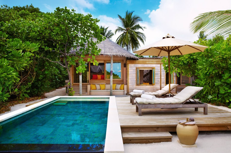 Resort Maldive Six Senses Laaamu family villa with pool