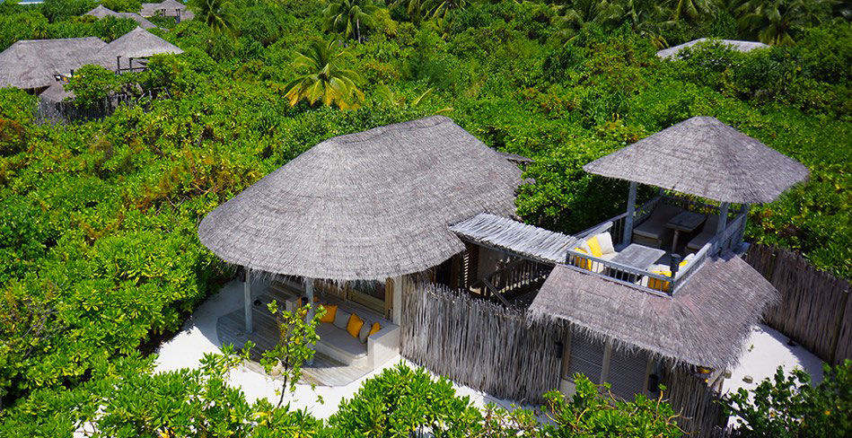 Resort Maldive Six Senses Laaamu ocean beach villa