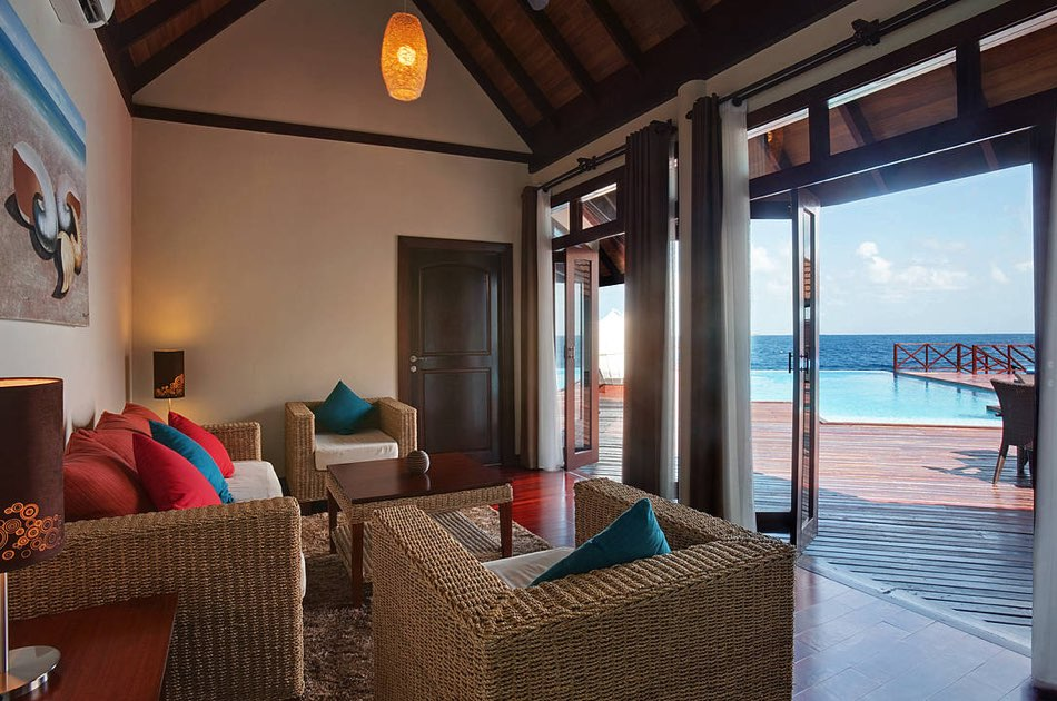 Resort Maldive Robinson Club lagoon presidencial suitel