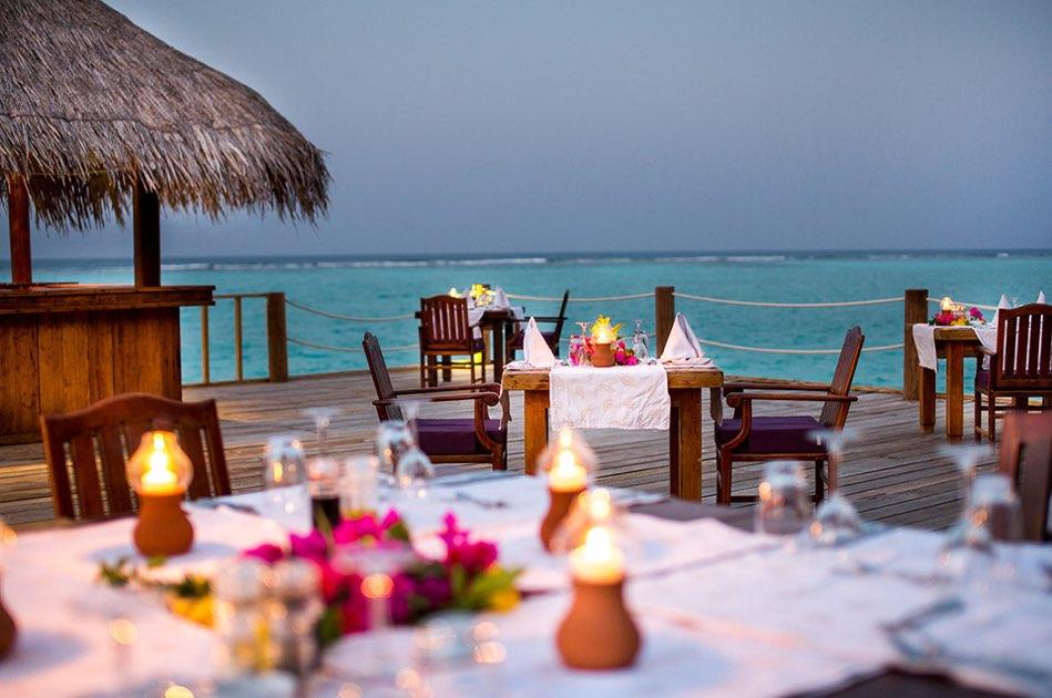 Resort Maldive Palm Beach Resport & Spa ristorante Romantic