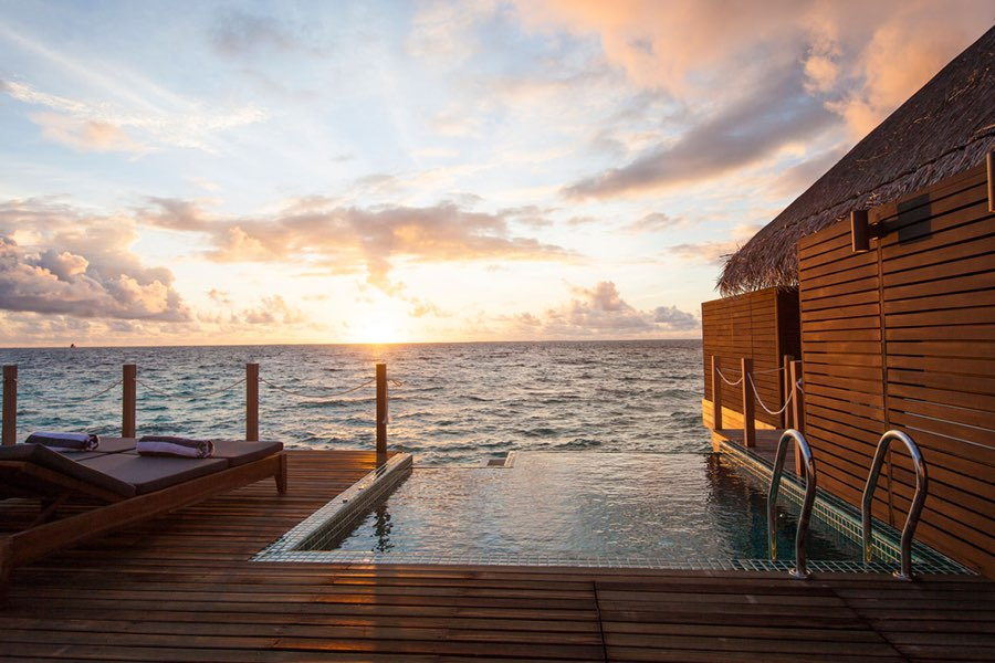 Resort Maldive Outrigger Konotta Maldives lagoon with private pool