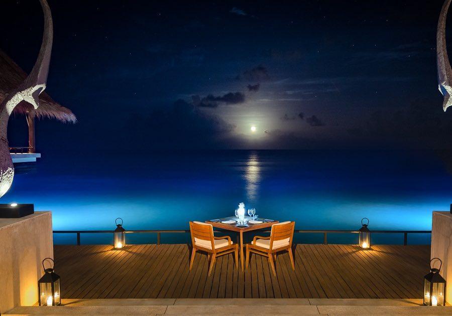 Resort Maldive One & Only Reehi Rah ristorante Reehi