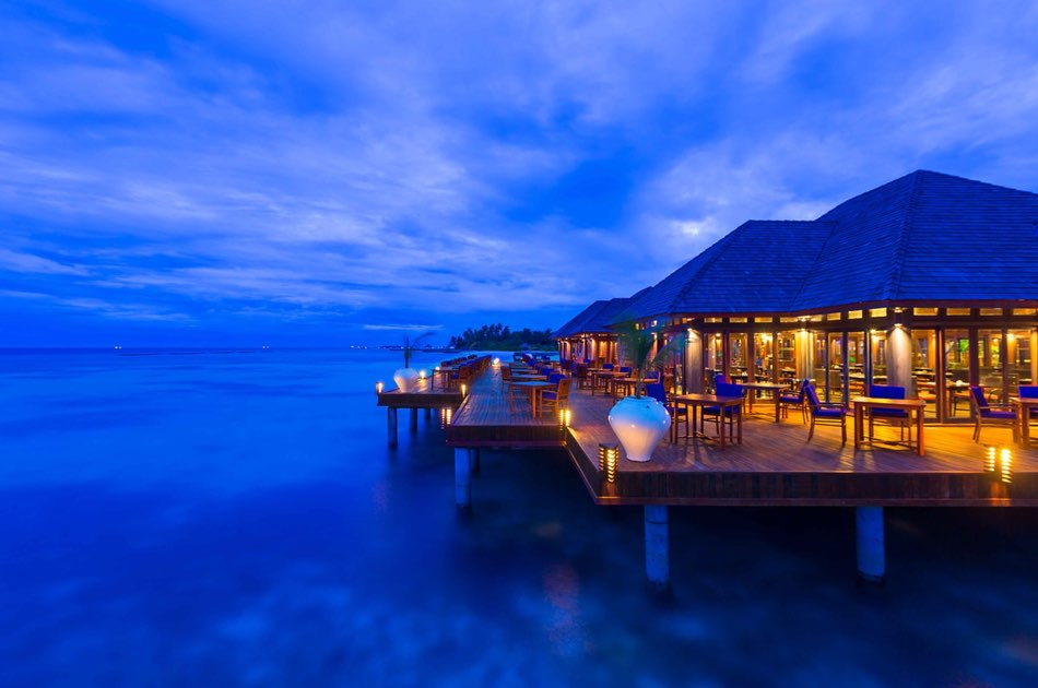 Resort Maldive Olhuveli Beach & Spa ristorante Sunset