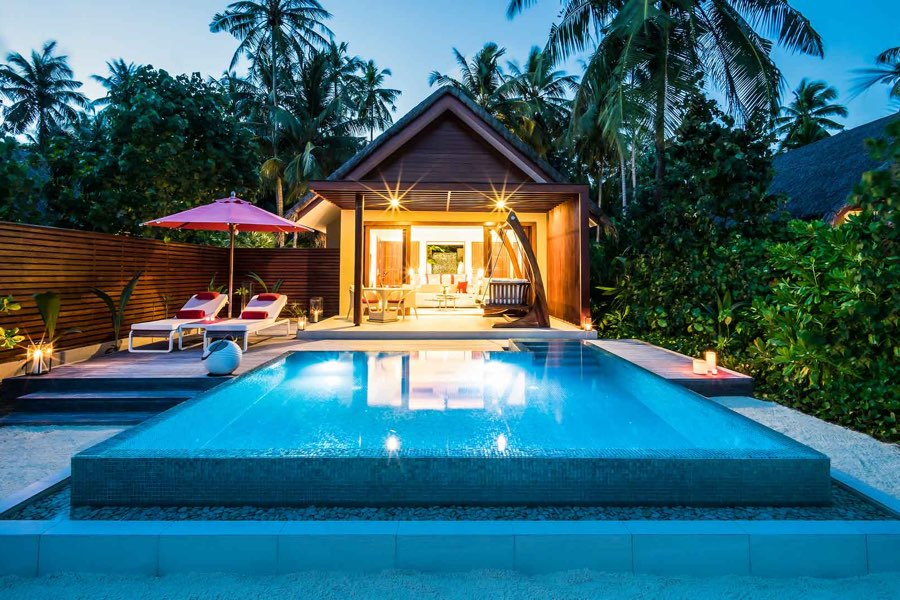 Resort Maldive Niyama per Aquum Resort beach studio with pool