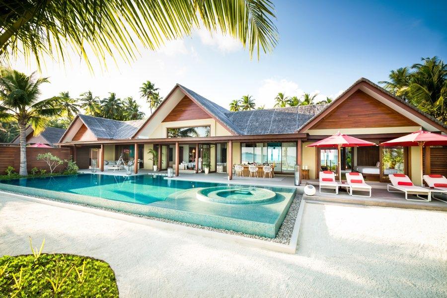 Resort Maldive Niyama per Aquum Resort three bedroom family beach pavillon with pool