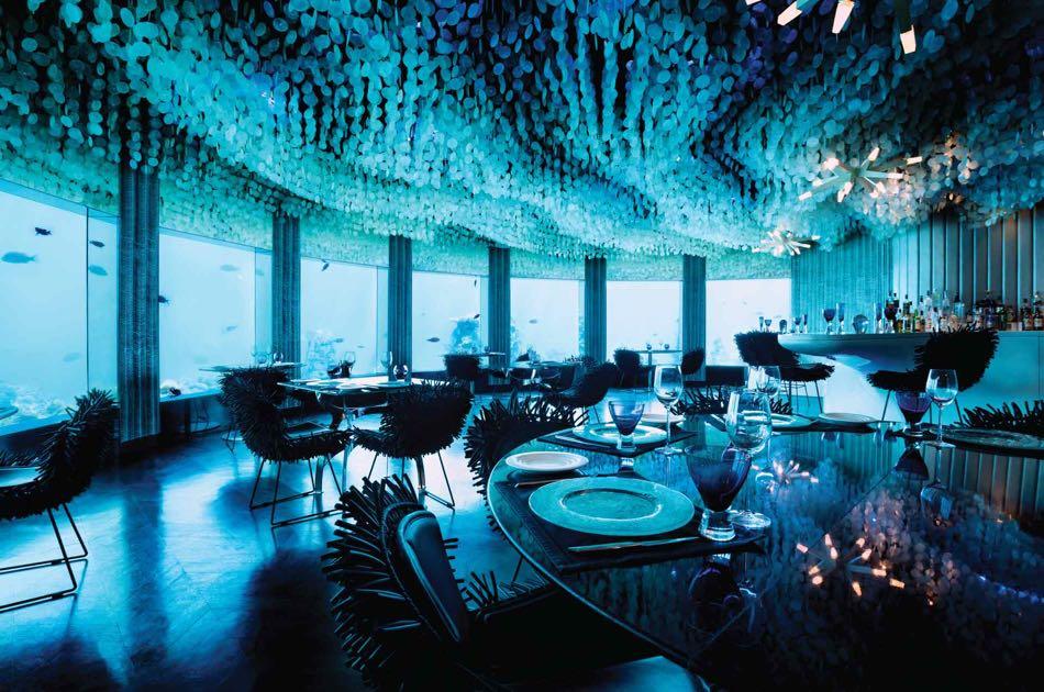 Resort Maldive Niyama per Aquum Resort ristorante Subsix