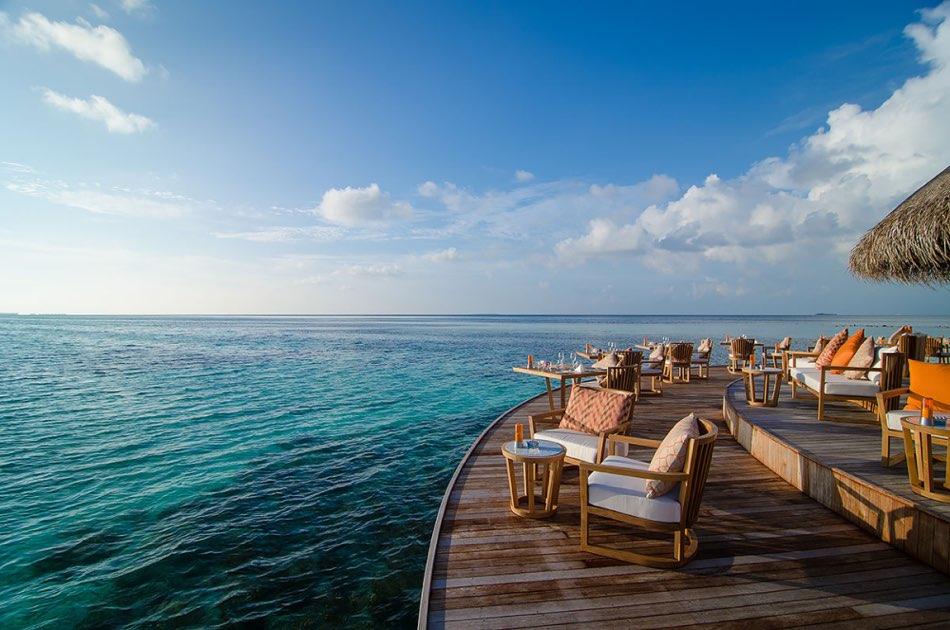 Resort Maldive Mirihi Island Resort ristorante Muraka