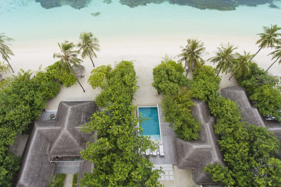 Resort Malidve Kanuhura family beach pool villa