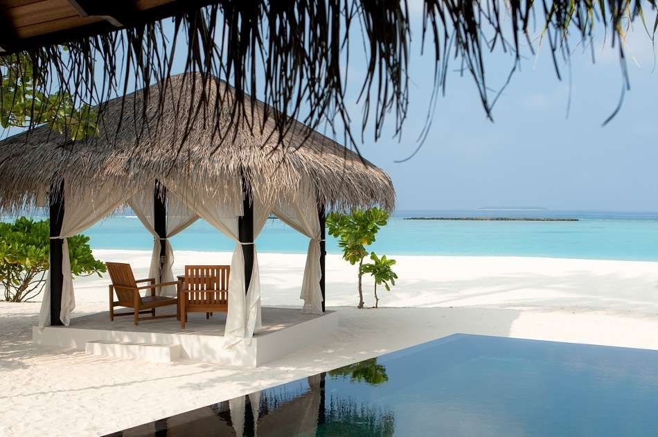 Resort Maldive The Sun Siyam Iru Fushi deluxe beach villa with pool