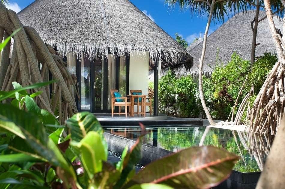 Resort Maldive The Sun Siyam Iru Fushi family deluxe beach villa with pool