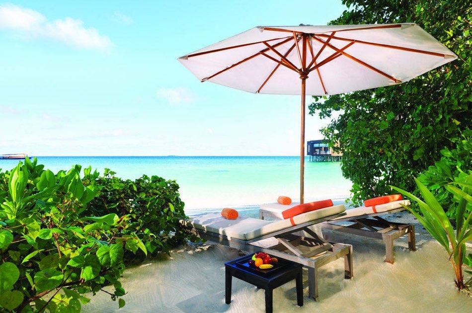 Dhevanafushi Maldives Luxury beach villa with pool