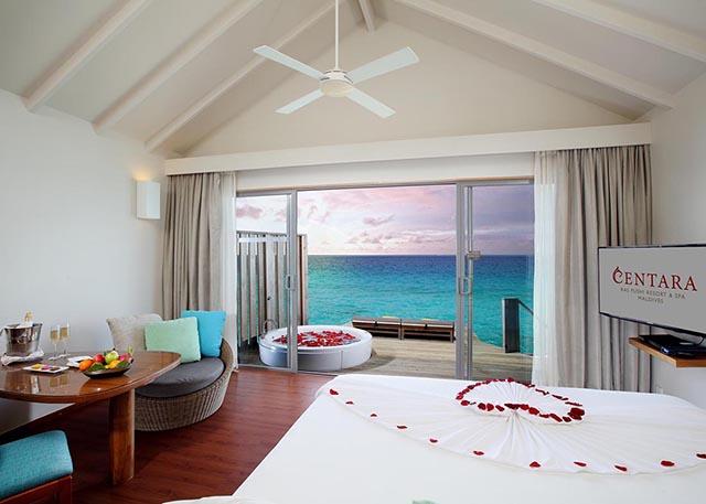 Centara Ras Fushi Resort Maldive premium deluxe spa water villa