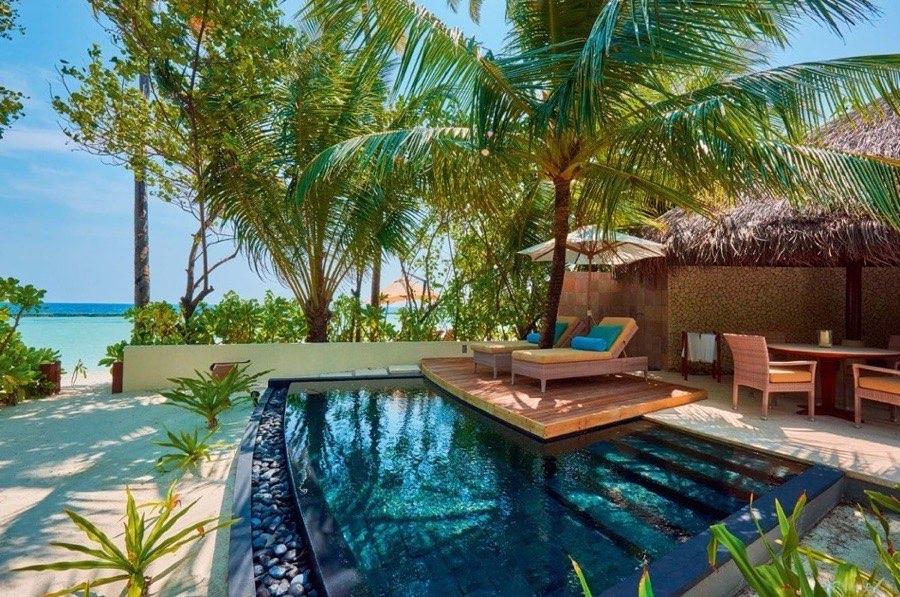 Ristorante Maldive Constance Halaveli beach villa