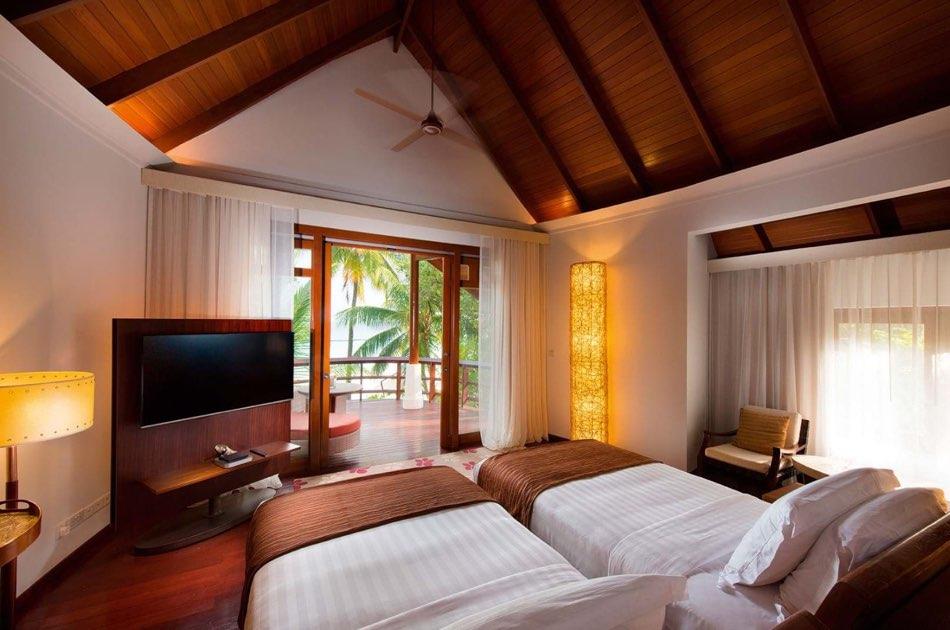 Ristorante Maldive Constance Halaveli double story beach villa