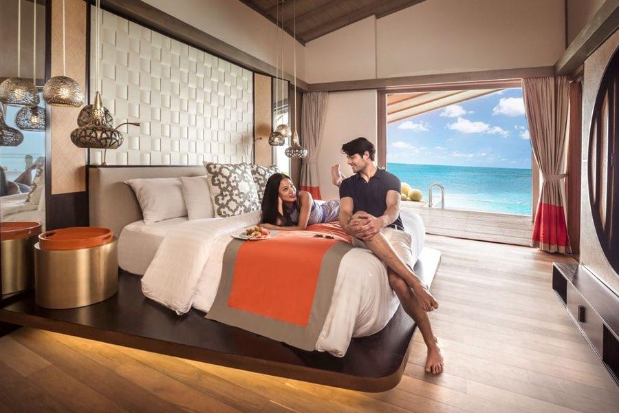 Club Med Finolhu Villas Maldive sunrise overwater villa