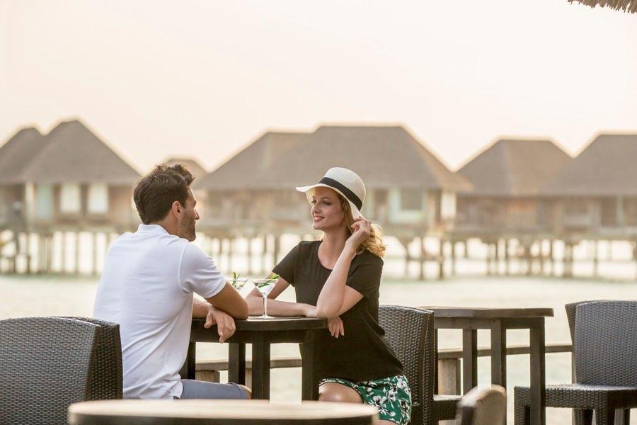 Club Med Finolhu Villas Maldive sunset bar