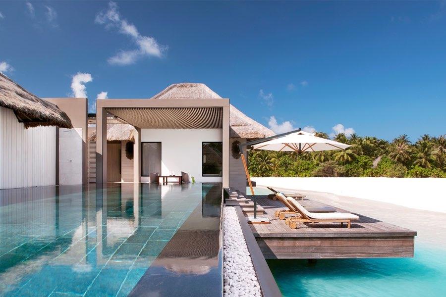 Cheval Blanc Randheli resort Maldive garden water villa