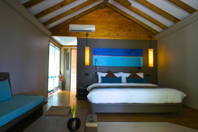 Canareef Island Resort Maldive sunset beach villa