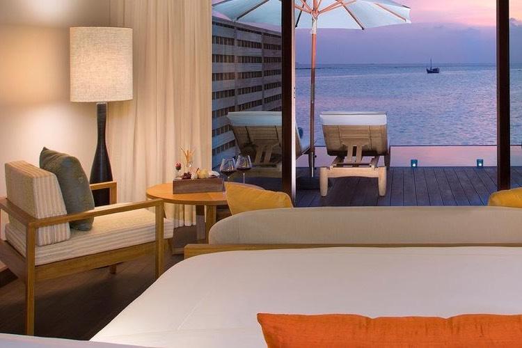 Anantara Veli Resort Maldive overwater pool bungalow
