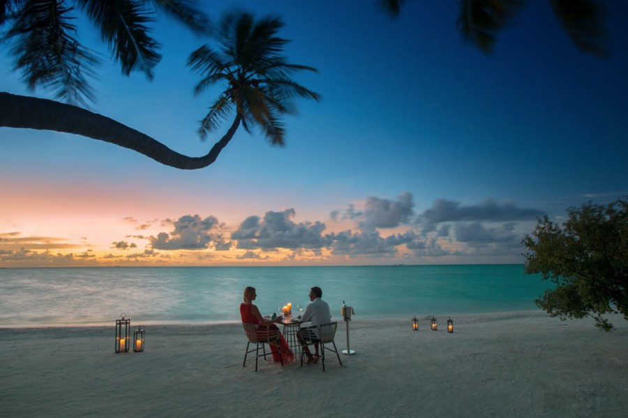 Resort Maldive Kandima cena in spiaggia