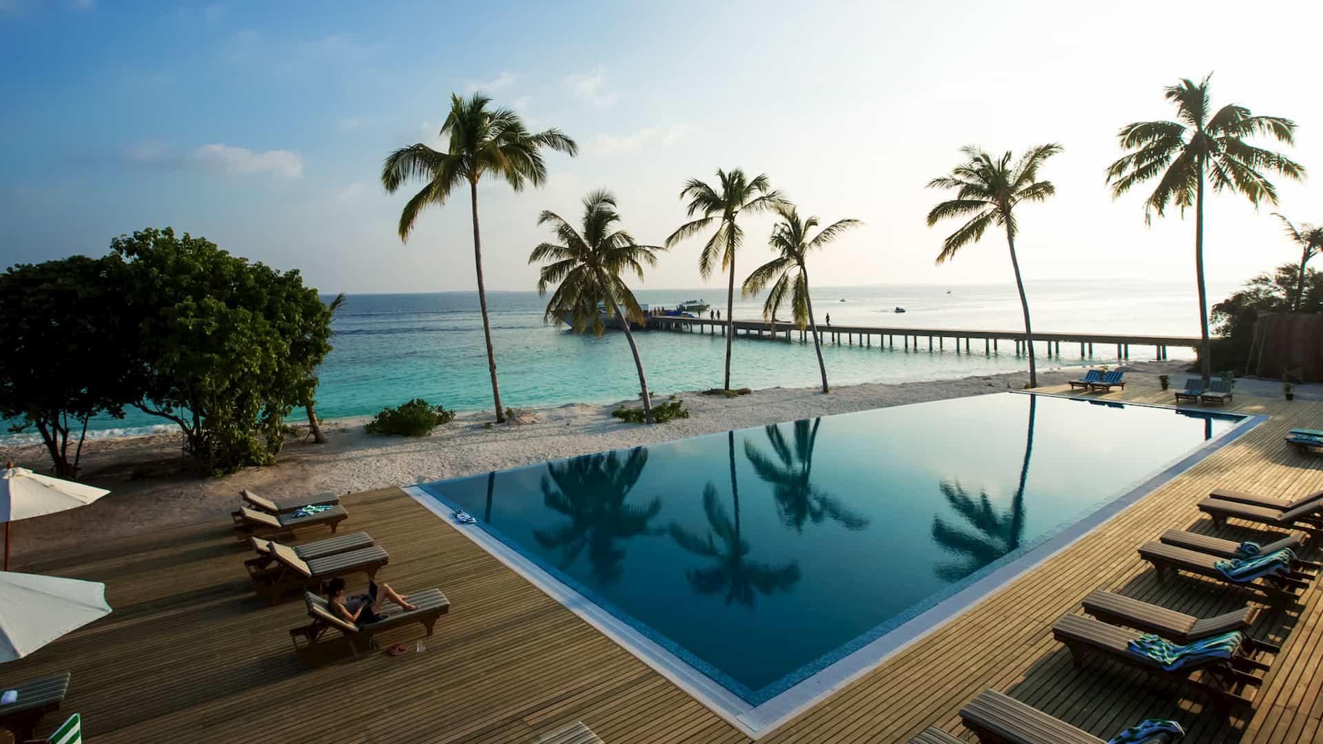 Resort Maldive Reethi Faru Raalhu cafè