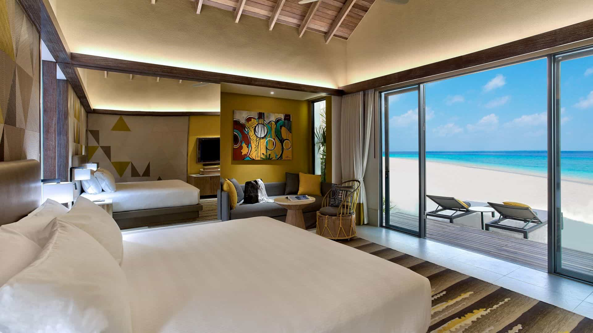 Resort Maldive Hard Rock silver gold beach villa
