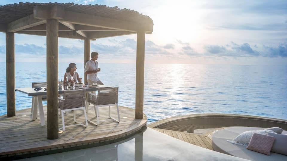 Resort Maldive Intercontinental Maamunga overwater residence