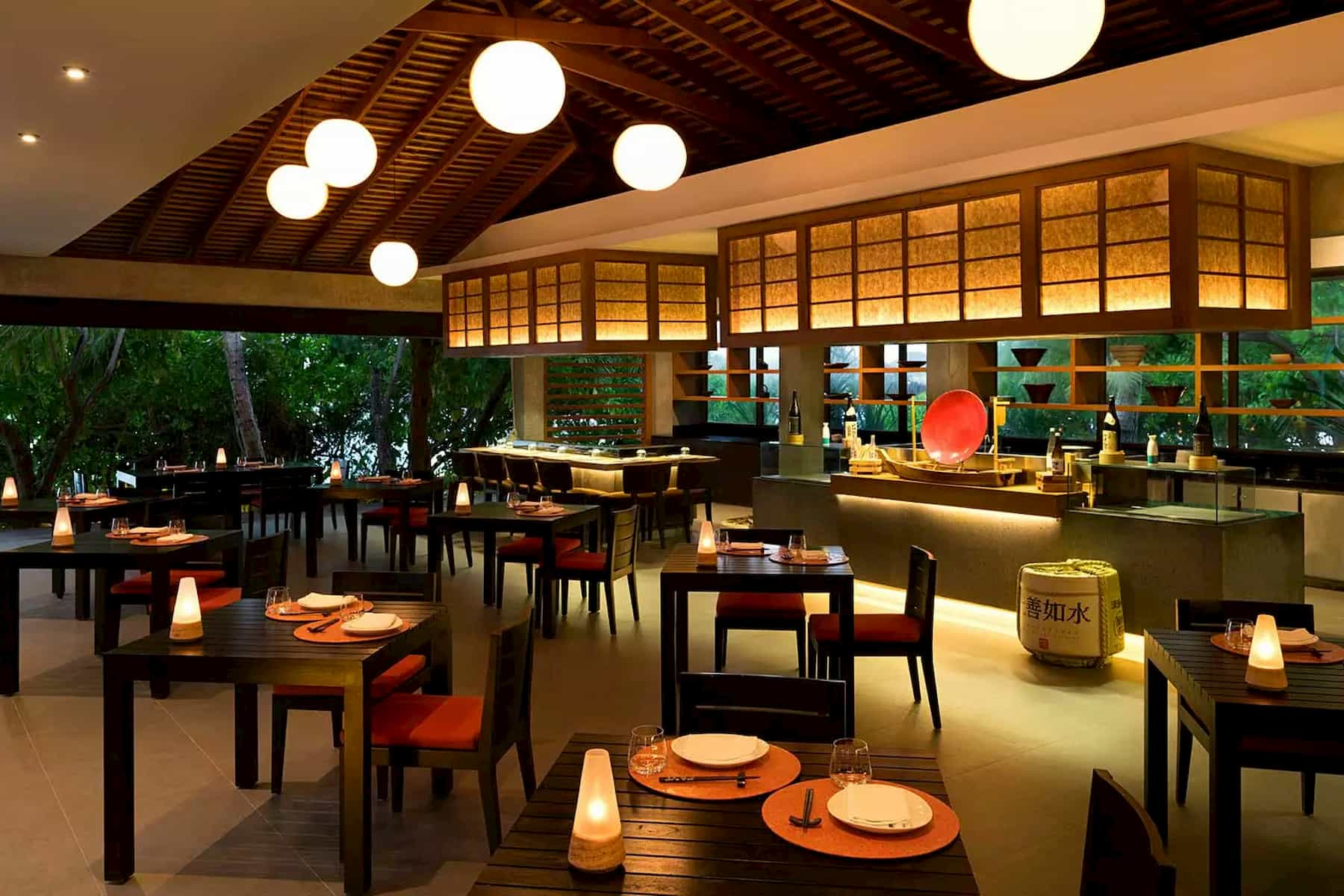 Anantara Dhigu resort Maldive Origami cucina giapponese