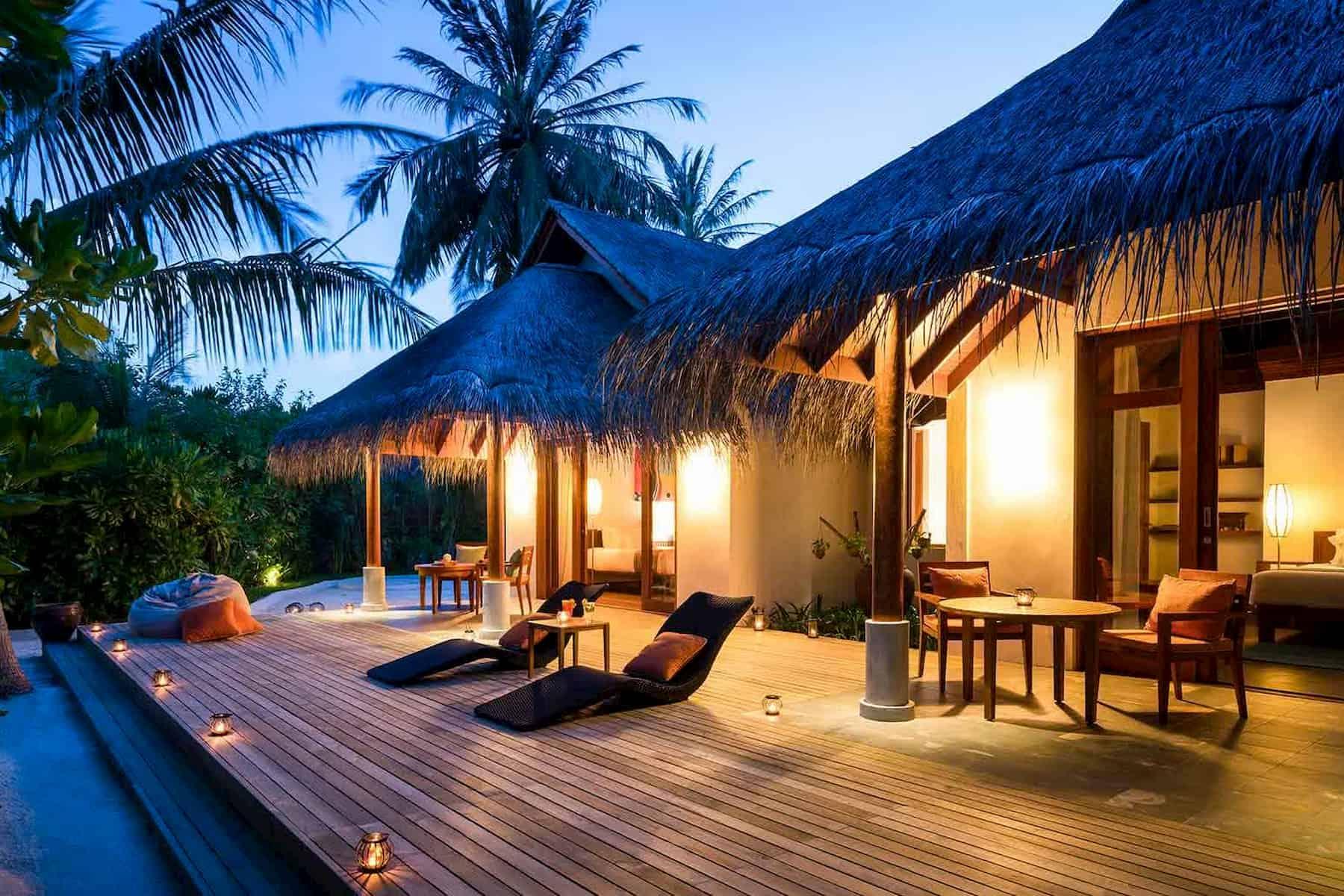 Anantara Dhigu resort Maldive two bedroom family villa