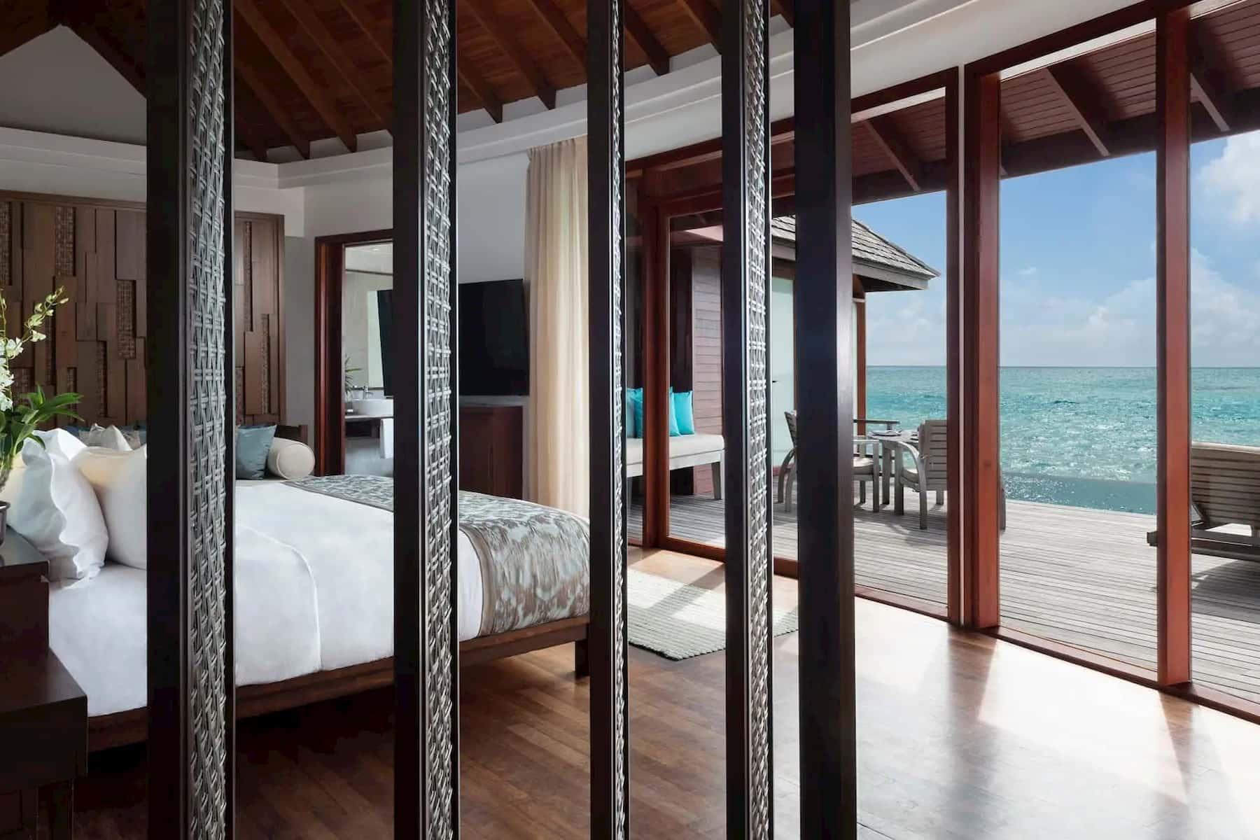 Anantara Dhigu resort Maldive overwater pool suite