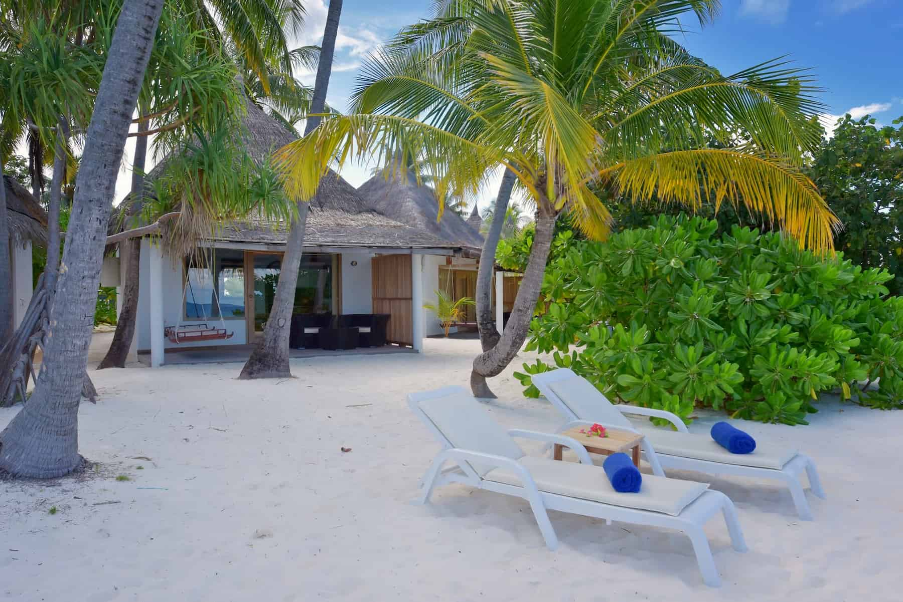 Angaga Island Resort Maldive beach bungalow