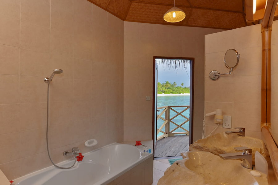 Angaga Island Resort Maldive water bungalow