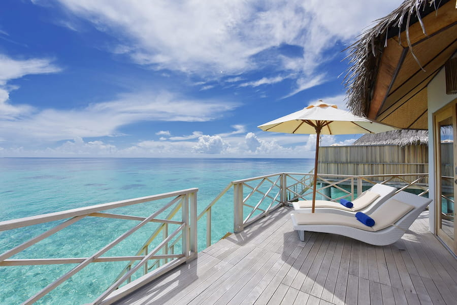 Angaga Island Resort Maldive superior water bungalow