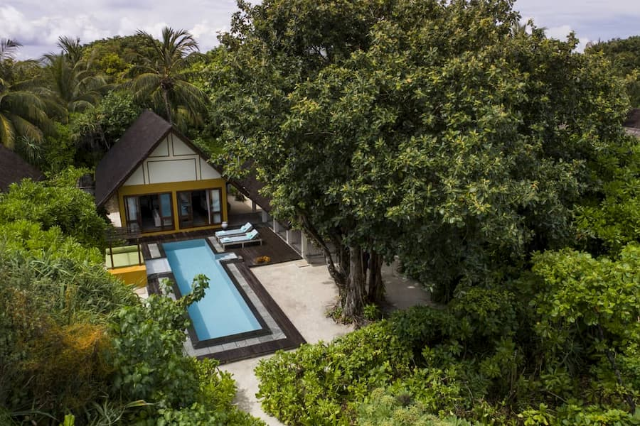 Resort Maldive Four Season Maldives at Landaa Giravaaru family beach villa with pool