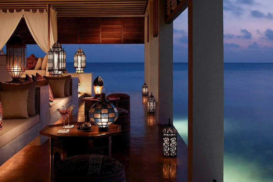 Resort Maldive Four Season Maldives at Landaa Giravaaru ristorante