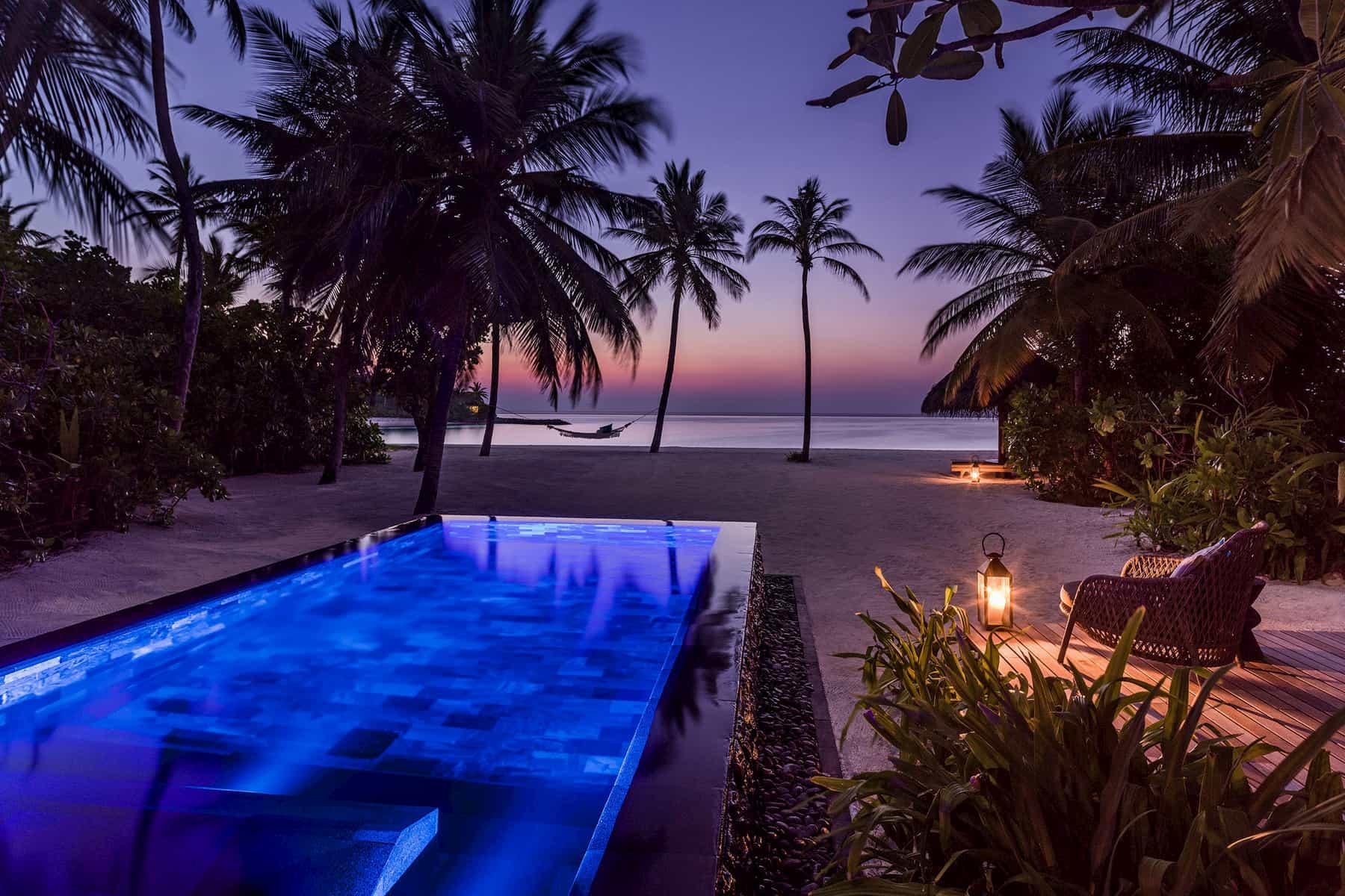Resort Maldive One & Only Reehi Rah beach villa with pool