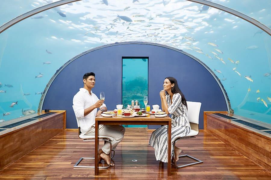 Resort Maldive Conrad Maldives Ithaa Undersea Restaurant