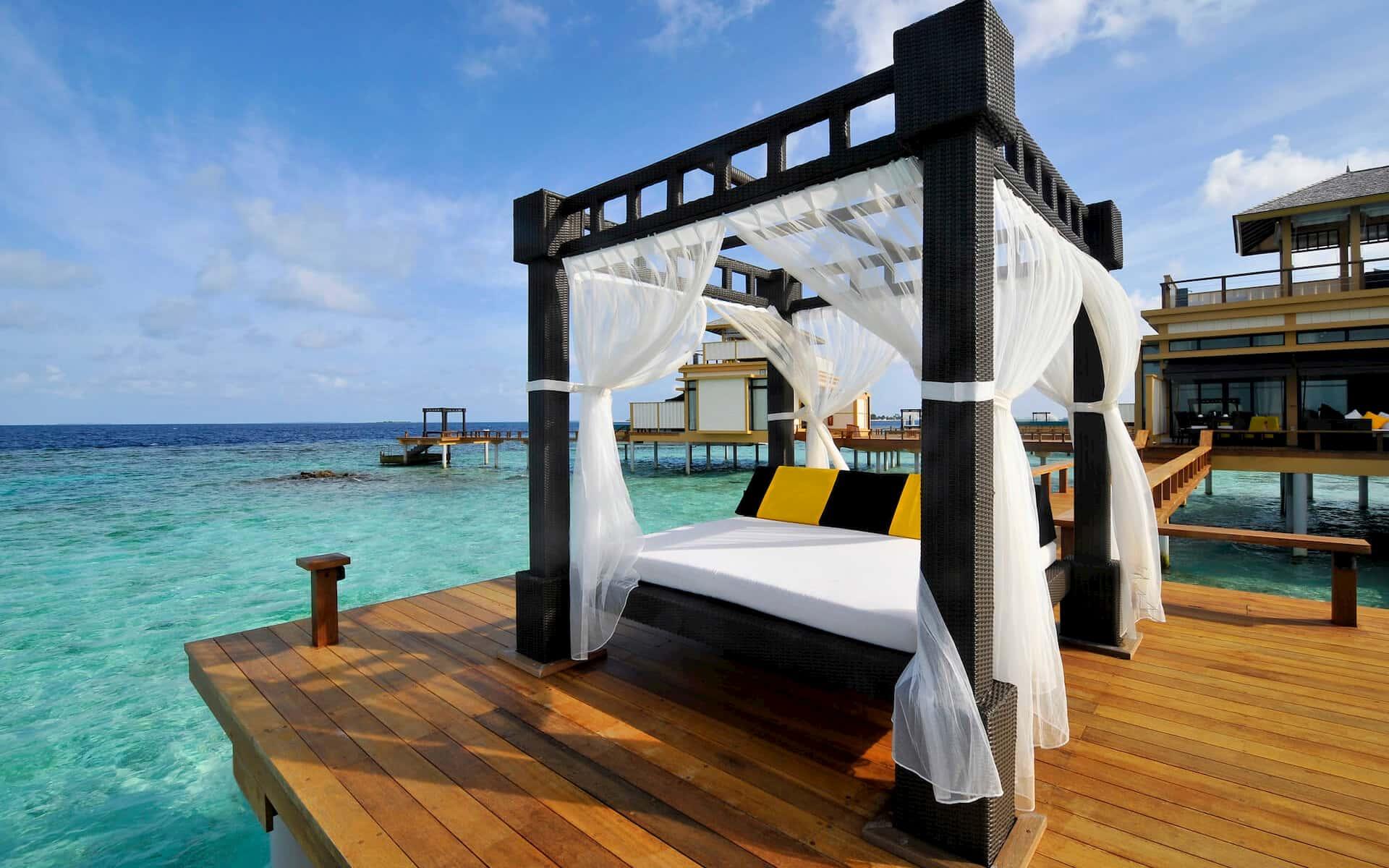 Angsana Velavaru resort Maldive InOcean pool villa with sala