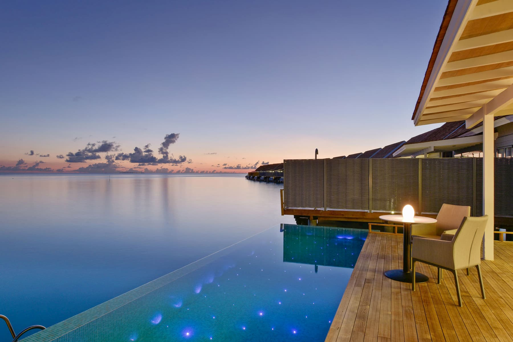 Resort Maldive Kuramathi Island resort water villa with pool
