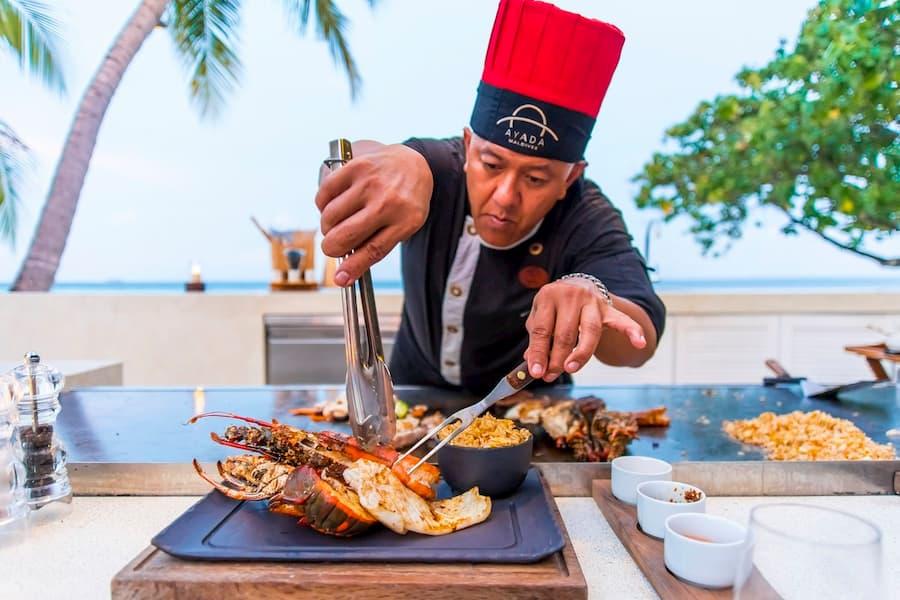 Ayada Maldives resort Maldive ristorante Mizu restaurant