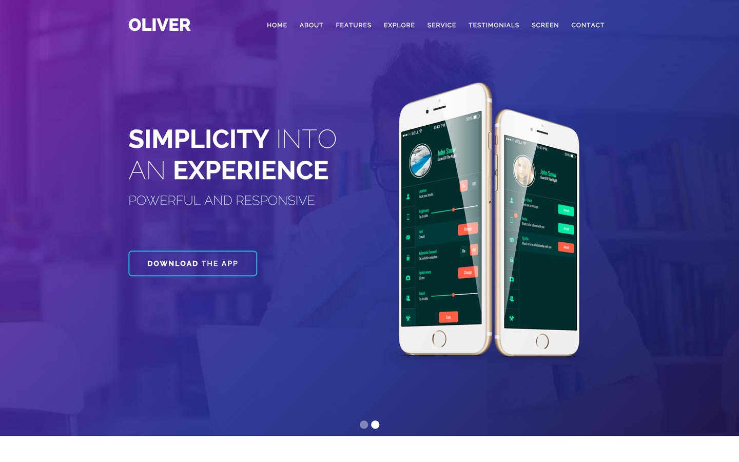 Oliver – Mobile Template